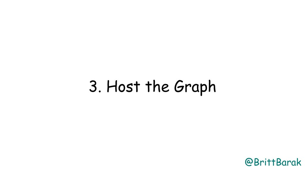 @BrittBarak 3. Host the Graph