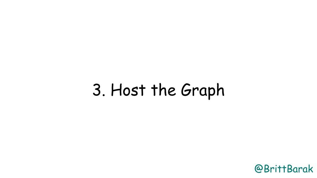@BrittBarak 3. Host the Graph