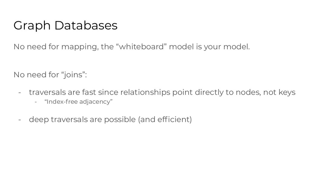 "No need for mapping, the ""whiteboard"" model is ..."