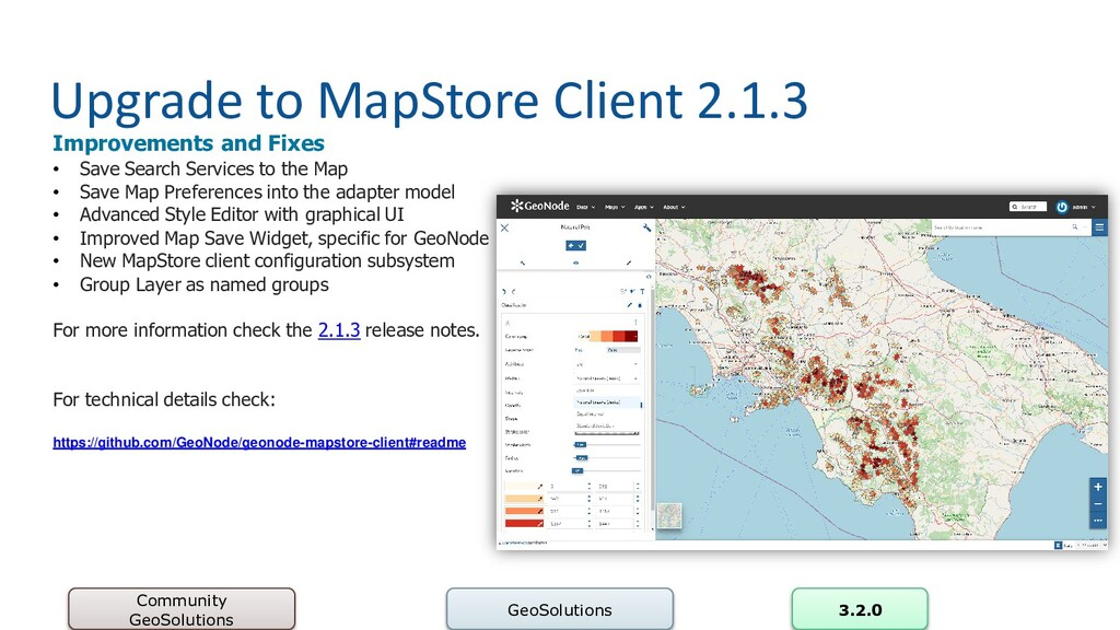 Upgrade to MapStore Client 2.1.3 Community GeoS...