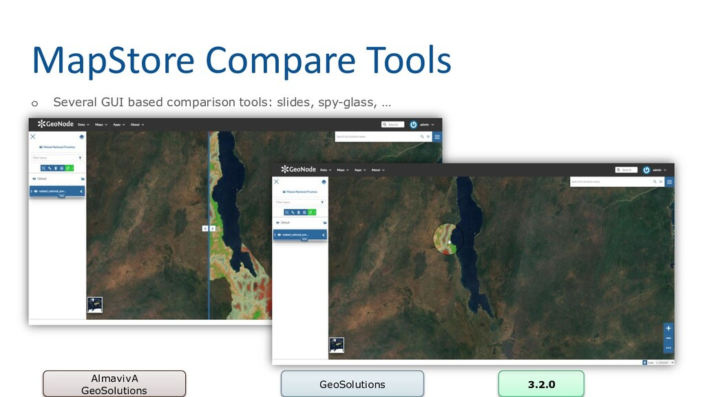 MapStore Compare Tools AlmavivA GeoSolutions Ge...