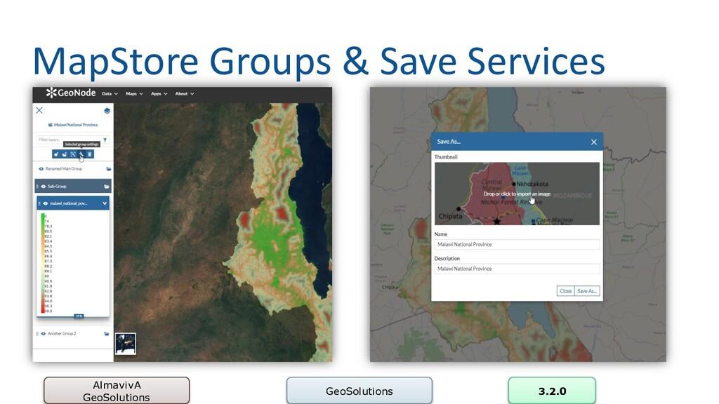 MapStore Groups & Save Services AlmavivA GeoSol...