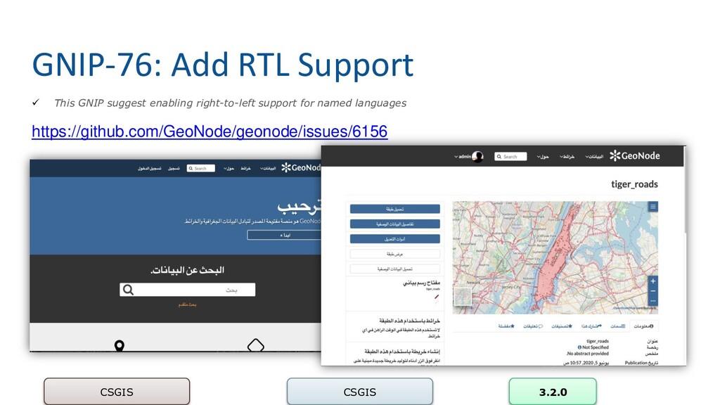 GNIP-76: Add RTL Support CSGIS CSGIS 3.2.0 ✓ Th...