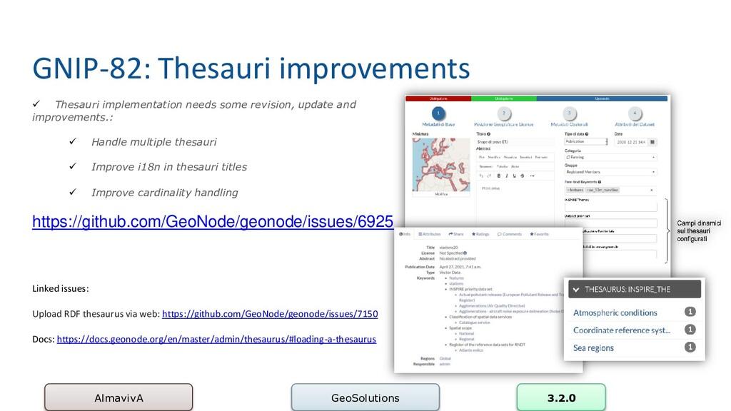 GNIP-82: Thesauri improvements AlmavivA GeoSolu...