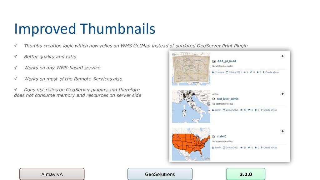 Improved Thumbnails AlmavivA GeoSolutions 3.2.0...