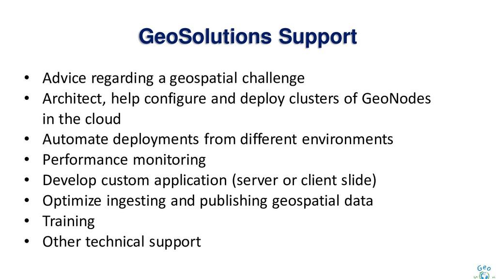GeoSolutions Support • Advice regarding a geosp...