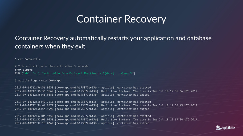 Container Recovery Container Recovery automa0ca...