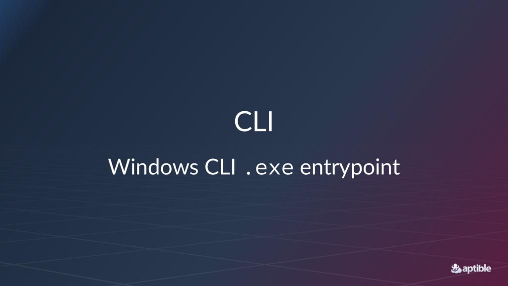 CLI Windows CLI .exe entrypoint