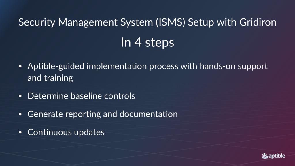 Security Management System (ISMS) Setup with Gr...