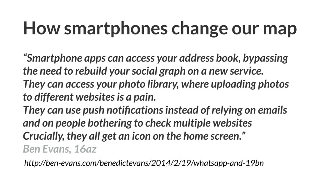 """How smartphones change our map """"Smartphone apps..."""