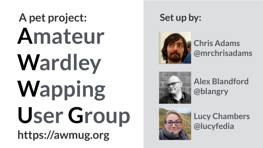 Amateur Wardley Wapping User Group A pet projec...