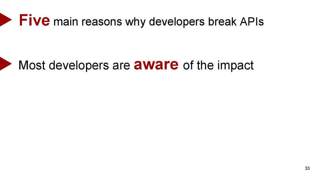 33 Five main reasons why developers break APIs ...