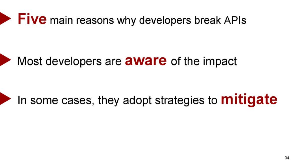 34 Five main reasons why developers break APIs ...