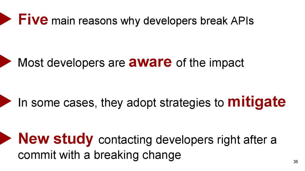35 Five main reasons why developers break APIs ...