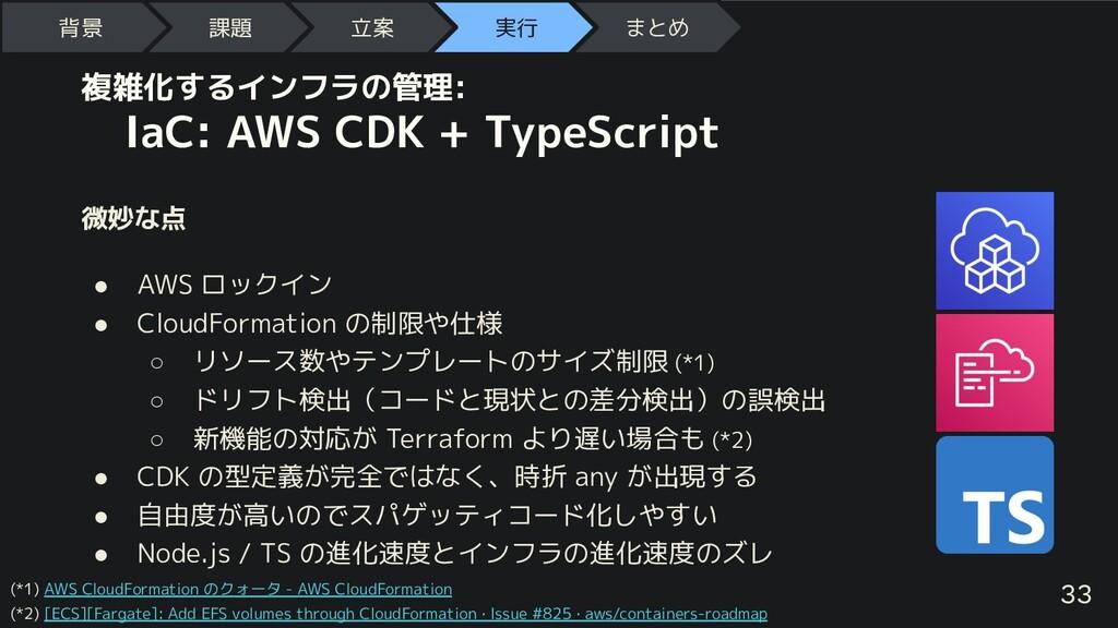 複雑化するインフラの管理:  IaC: AWS CDK + TypeScript 微妙な点 ●...
