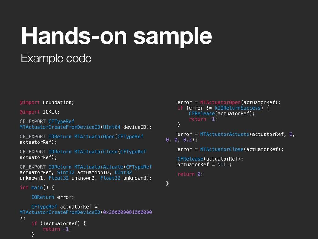 Example code @import Foundation; @import IOKit;...