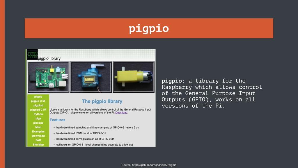 pigpio pigpio: a library for the Raspberry whic...