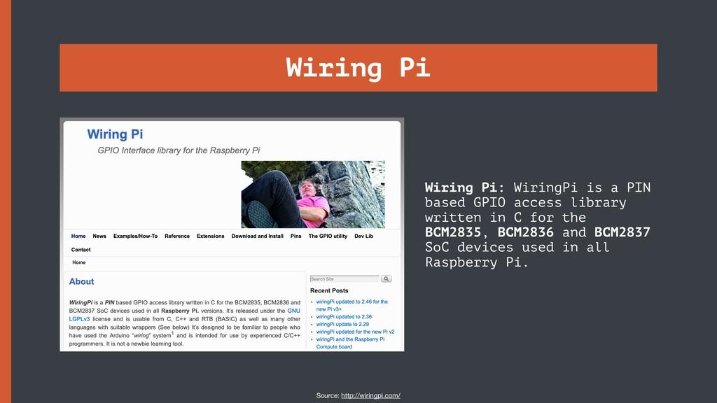 Wiring Pi Wiring Pi: WiringPi is a PIN based GP...