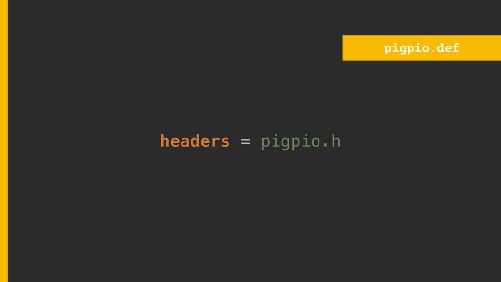 pigpio.def headers = pigpio.h