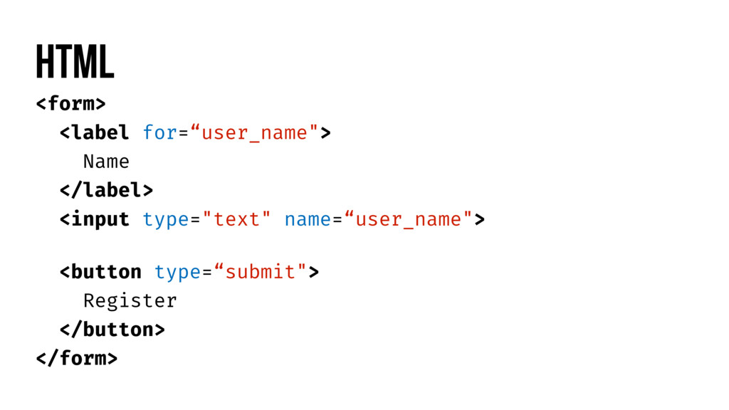 "<form> <label for=""user_name""> Name </label> <i..."