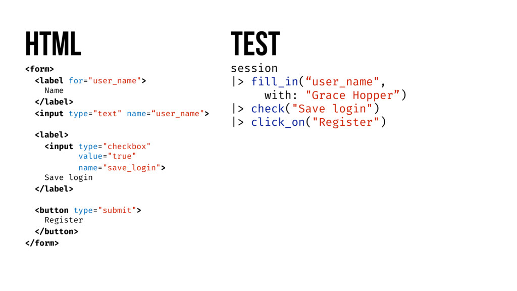 """HTML Test session  > fill_in(""""user_name"""", with:..."""