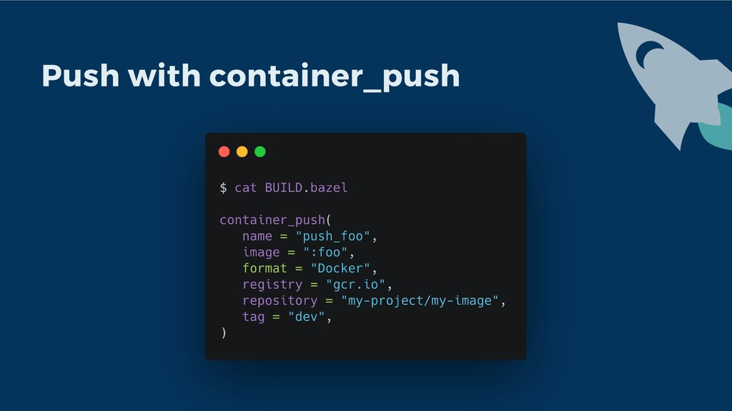 Push with container_push