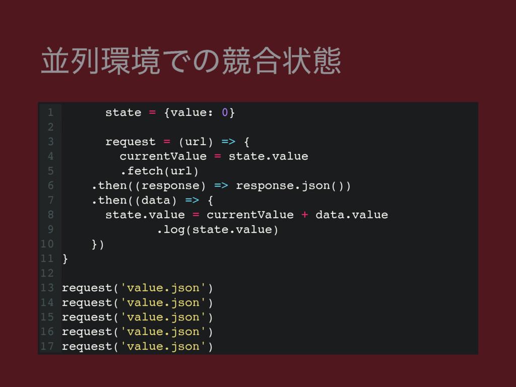 ฒྻڥͰͷڝ߹ঢ়ଶ 1 const state = {value: 0} 2 3 const...