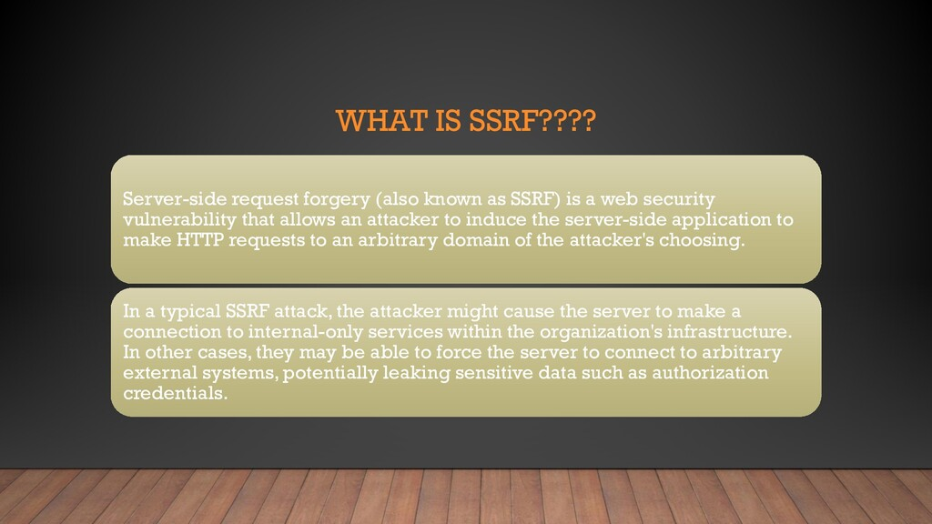 WHAT IS SSRF???? Server-side request forgery (a...