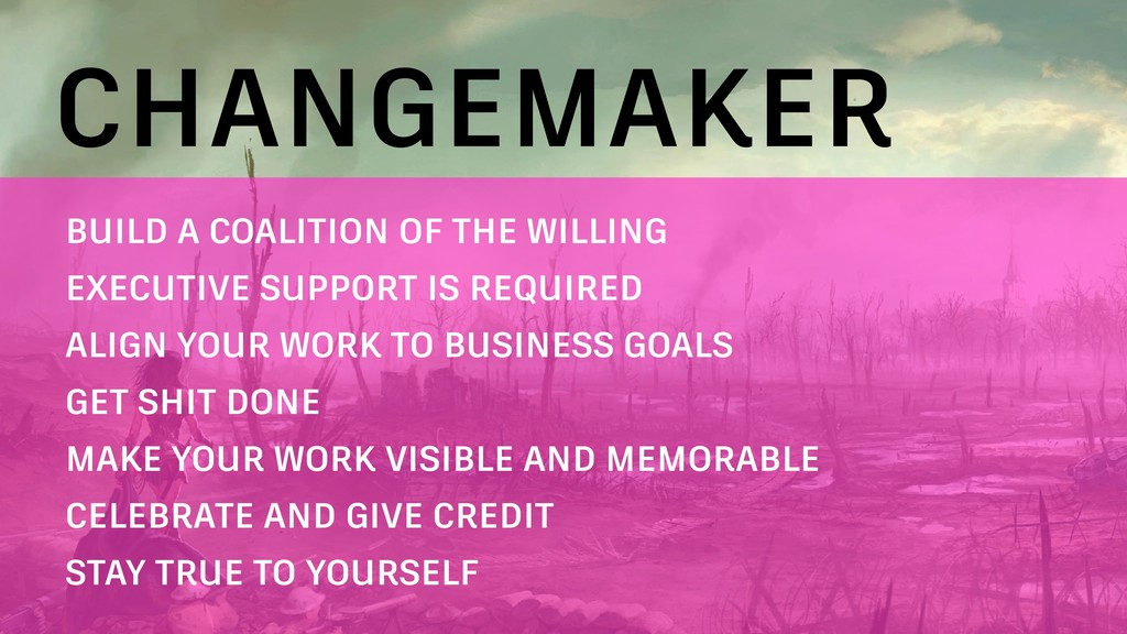 CHANGEMAKER BUILD A COALITION OF THE WILLING EX...