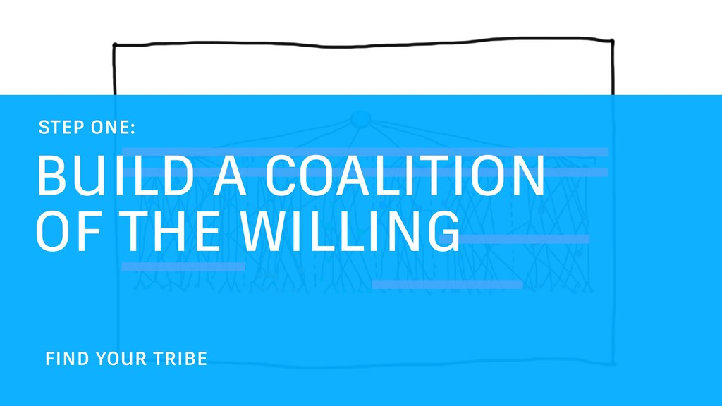 BUILD A COALITION OF THE WILLING STEP ONE: FIND...