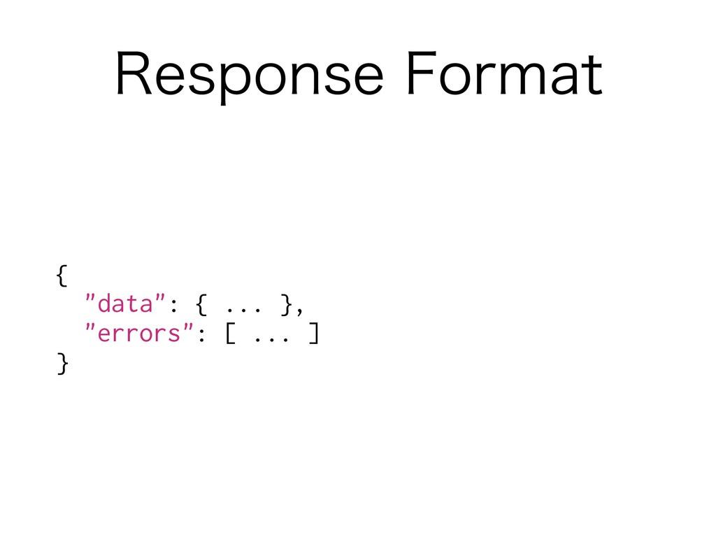 """3FTQPOTF'PSNBU { """"data"""": { ... }, """"errors"""": [ ..."""