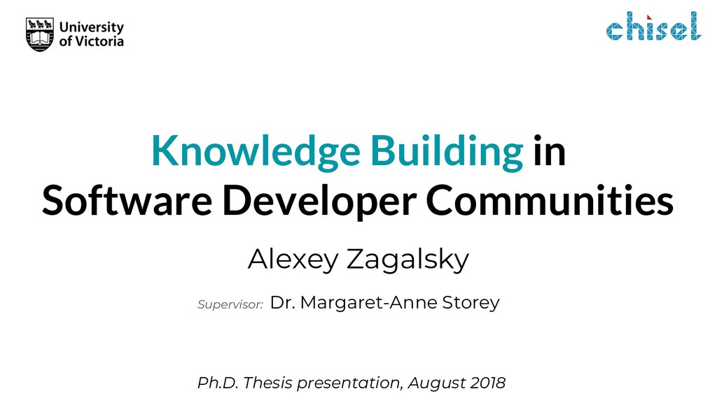 Knowledge Building in Software Developer Commun...