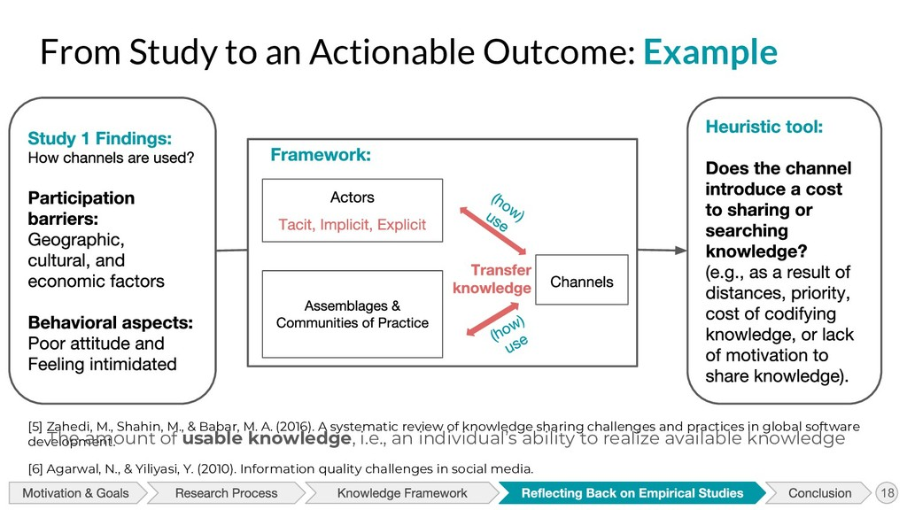 From Study to an Actionable Outcome: Example [5...