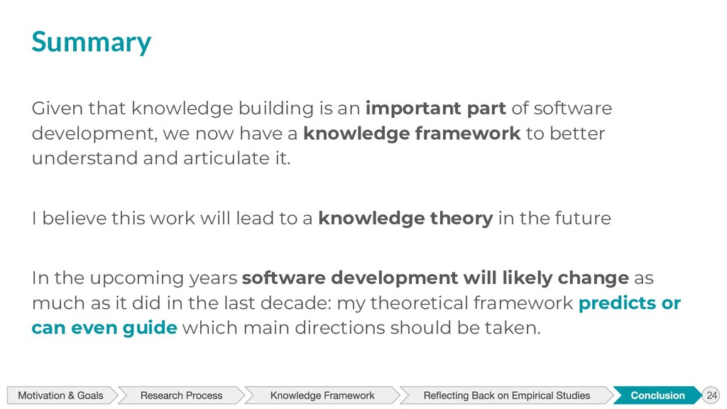 Summary Given that knowledge building is an imp...