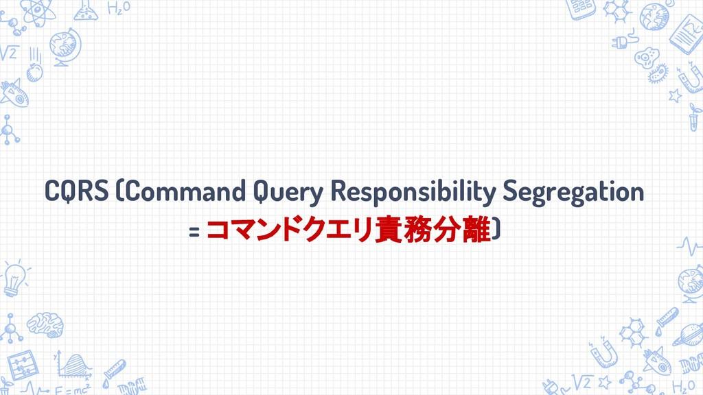 CQRS (Command Query Responsibility Segregation ...