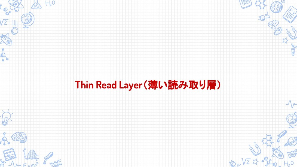 Thin Read Layer(薄い読み取り層)
