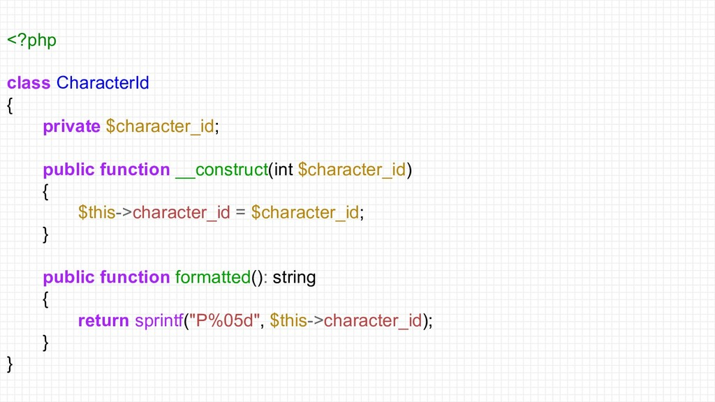 <?php class CharacterId { private $character_id...
