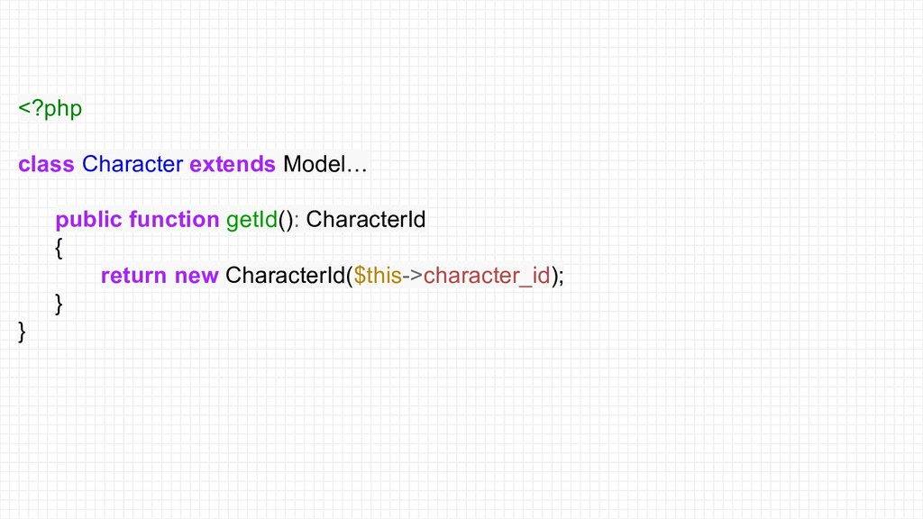<?php class Character extends Model… public fun...