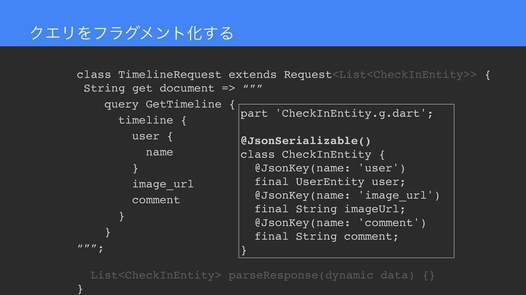 ΫΤϦΛϑϥάϝϯτԽ͢Δ class TimelineRequest extends Req...
