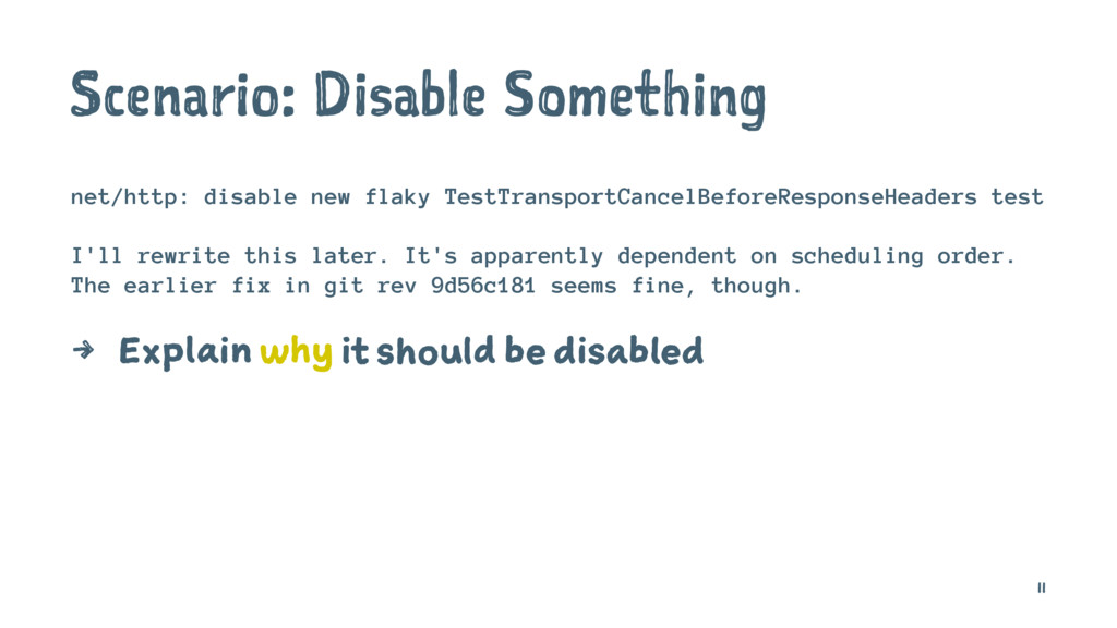 Scenario: Disable Something net/http: disable n...