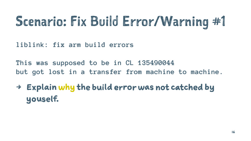 Scenario: Fix Build Error/Warning #1 liblink: f...