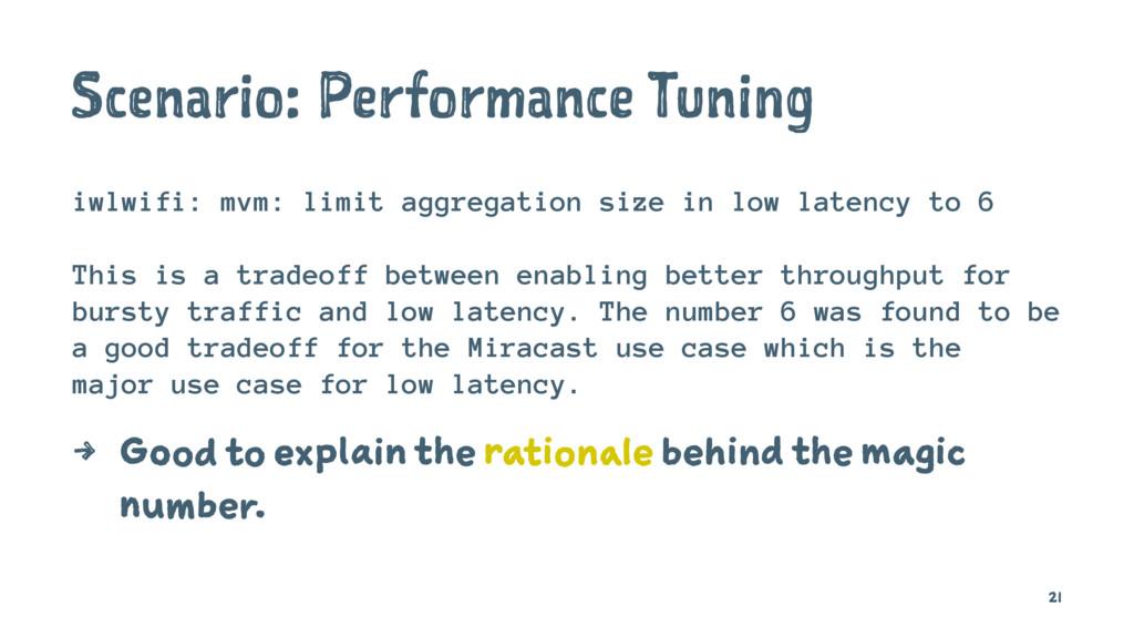Scenario: Performance Tuning iwlwifi: mvm: limi...