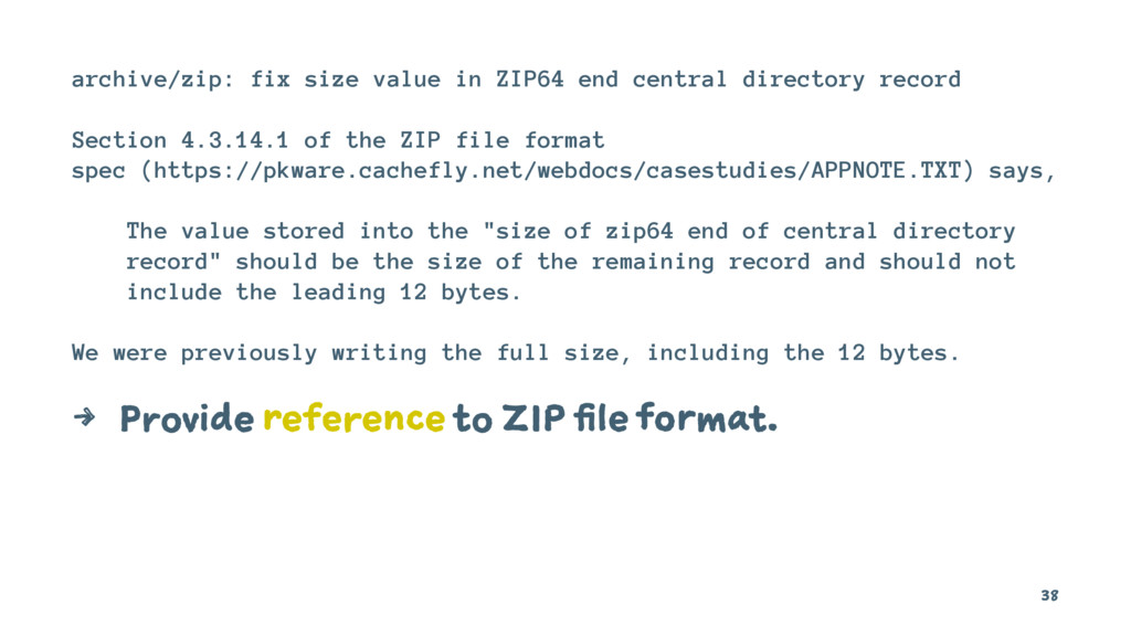 archive/zip: fix size value in ZIP64 end centra...