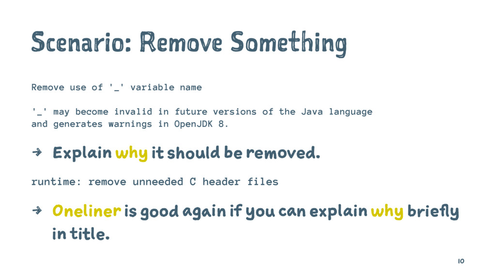 Scenario: Remove Something Remove use of '_' va...