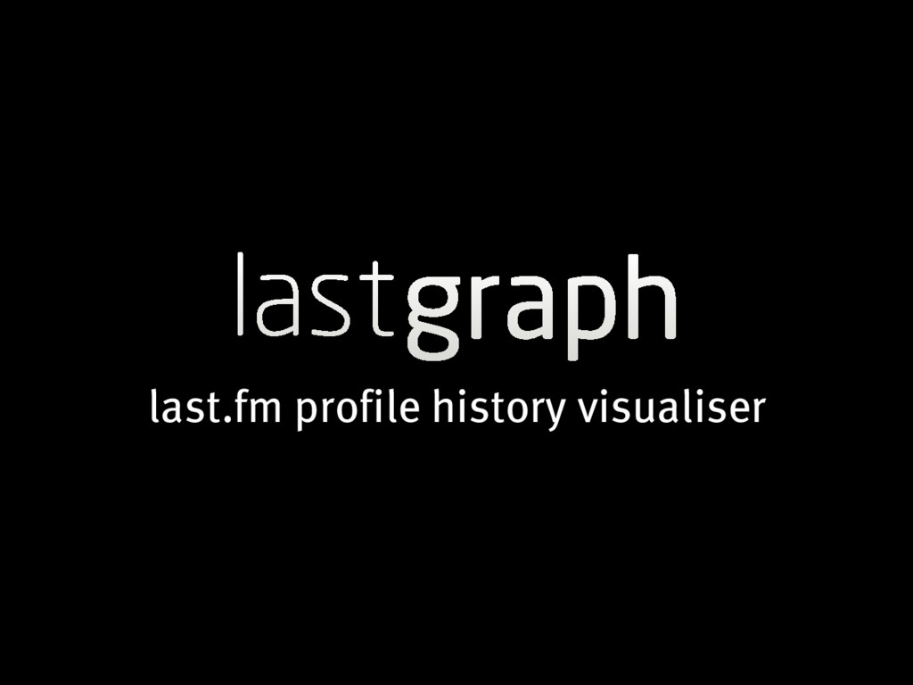 last.fm profile history visualiser