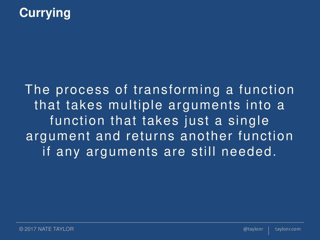 The process of transforming a function that tak...