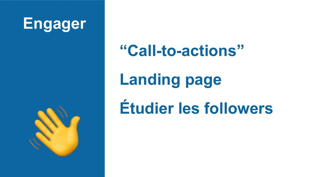 """Engager """"Call-to-actions"""" Landing page Étudier ..."""