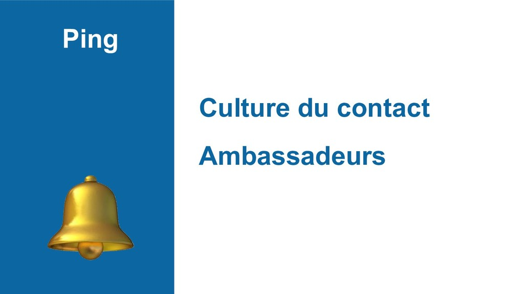 Ping Culture du contact Ambassadeurs