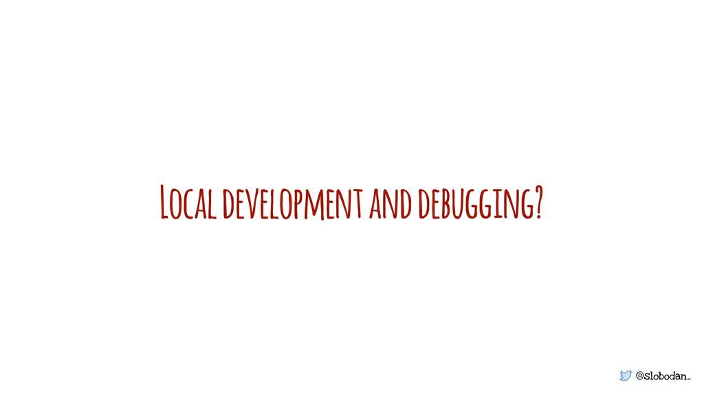 @slobodan_ Local development and debugging?