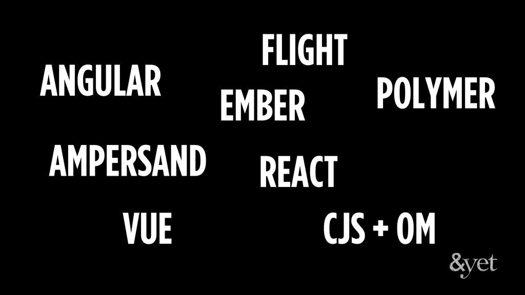 ANGULAR EMBER AMPERSAND REACT POLYMER FLIGHT VU...
